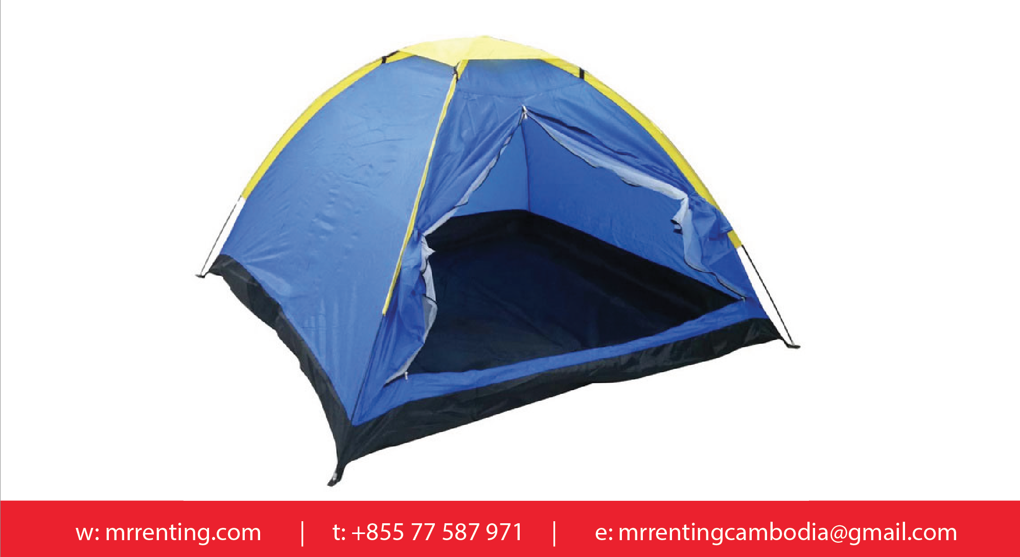 Camping tent 2m x 2m for Bett 2m x 2m